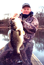 George Hinkle with a very big bass