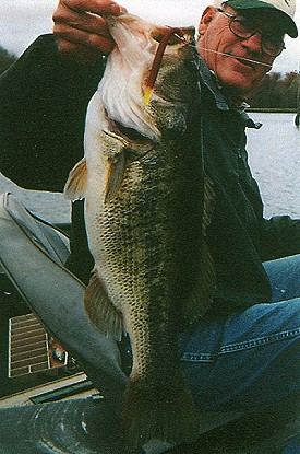 Bobby Moore with 10 lb 8 oz bass, March 10