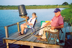 Joe and Judy Elliott of Brent enjoying pier fishing