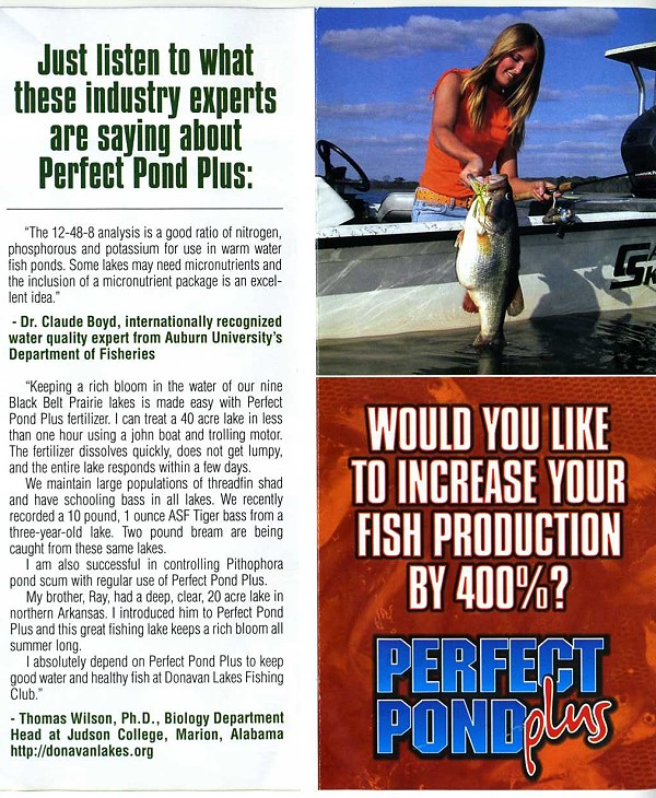 Wilson's testimony for Perfect Pond Plus