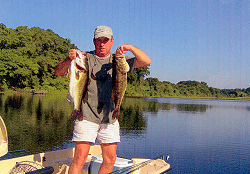 Rodney Smith with two bass over 9 lbs, 04