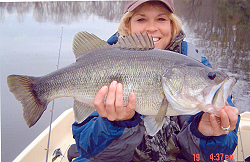 Kathey Smith with another big bass