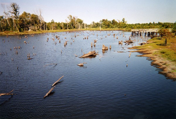 Snag Lake during drought of 2007