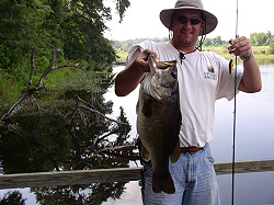 David Carlisle with 10 lb 4 oz bass from Bar-D